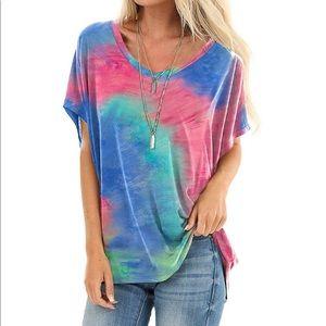 Tie Dye T-Shirt V-neck